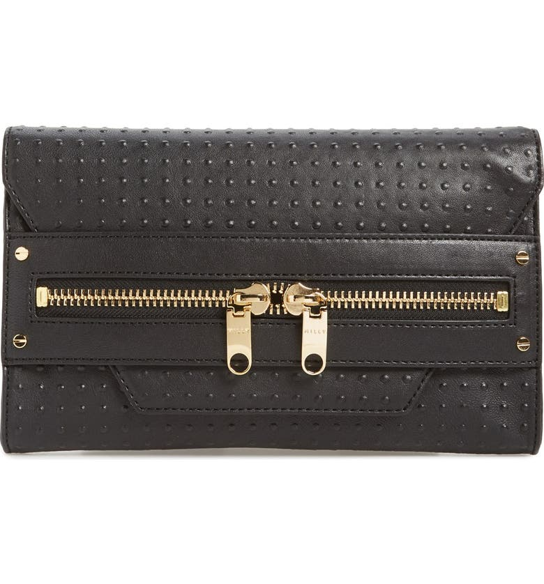 MILLY 'Perry - Dots' Clutch, Main, color, Black