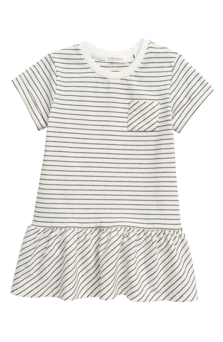 MILES baby Stripe Dress, Main, color, OFF WHITE