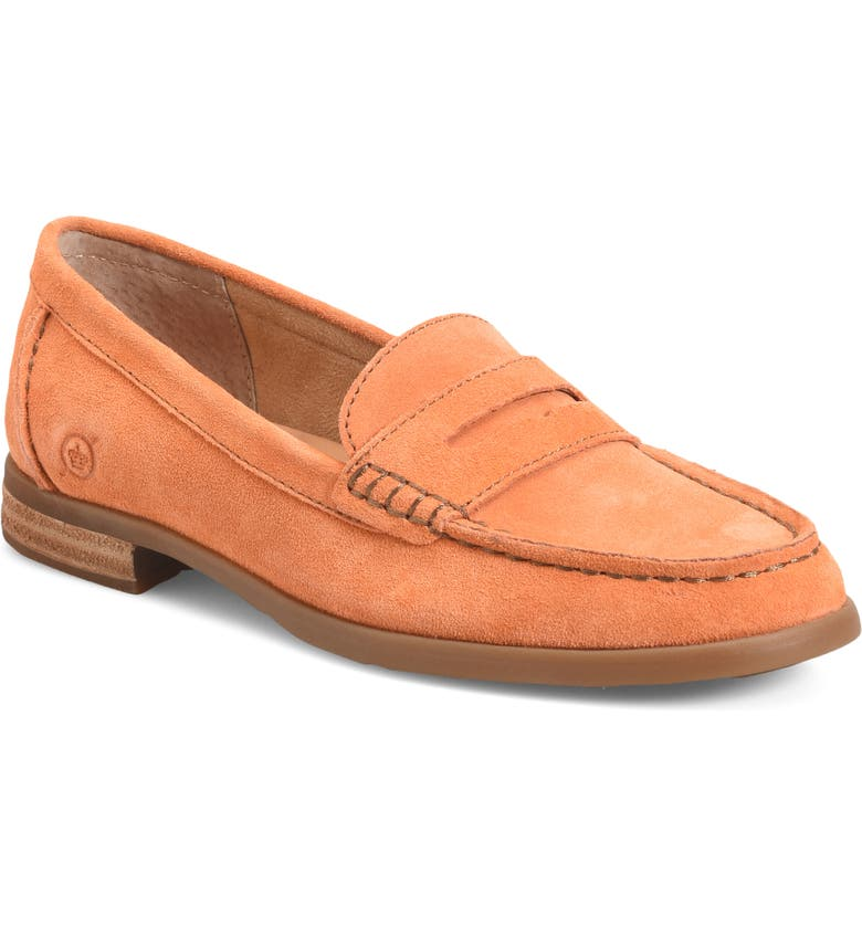 BØRN Bly Penny Loafer, Main, color, ORANGE/ ORANGE SUEDE