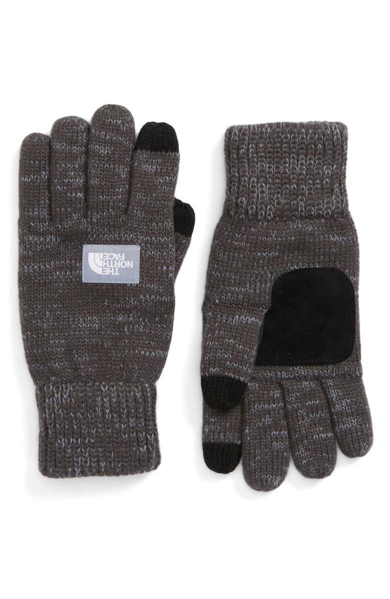 THE NORTH FACE Etip Salty Dog Knit Tech Gloves, Main, color, GRAPHITE GREY