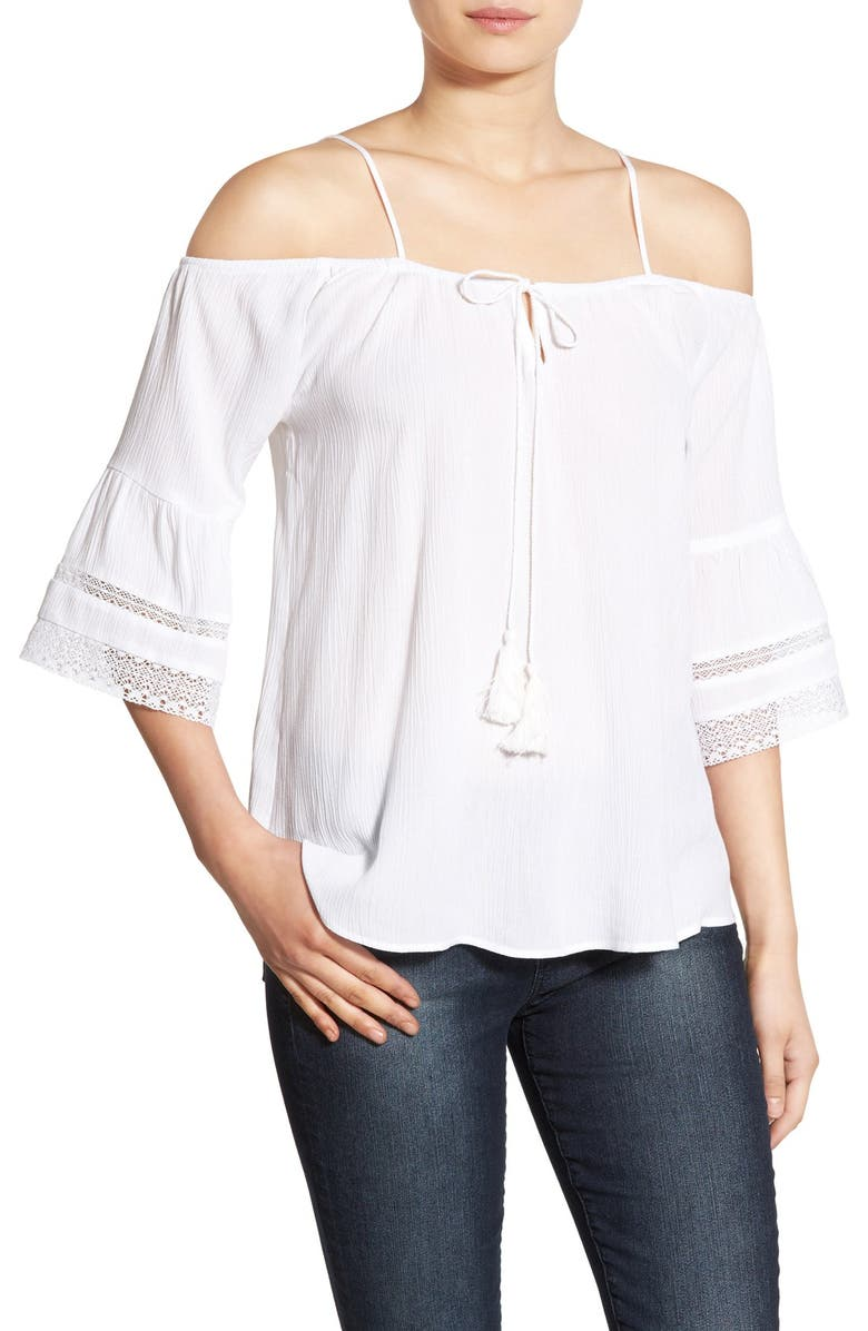 SOCIALITE Off the Shoulder Top, Main, color, White