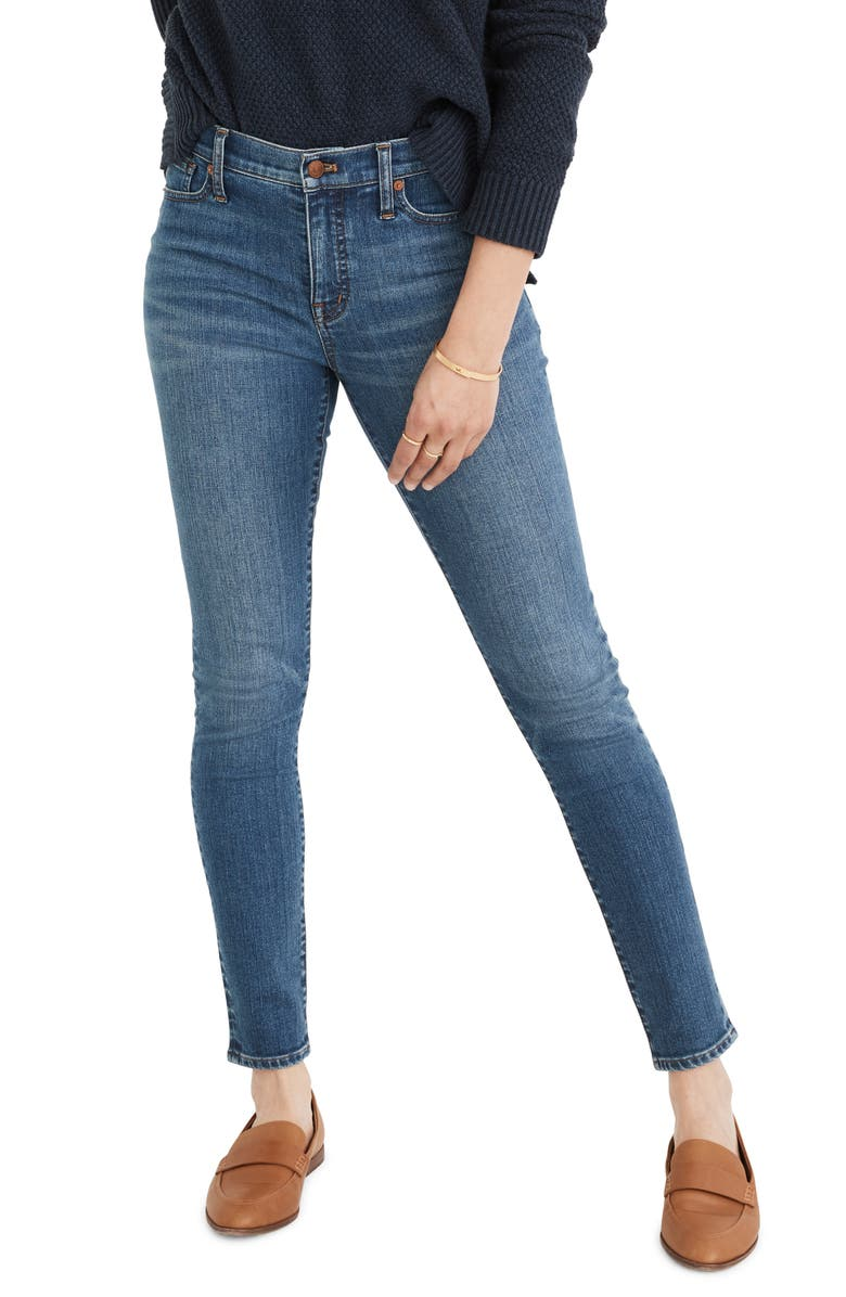 MADEWELL 9-Inch Skinny Jeans, Main, color, PLEASANT WASH
