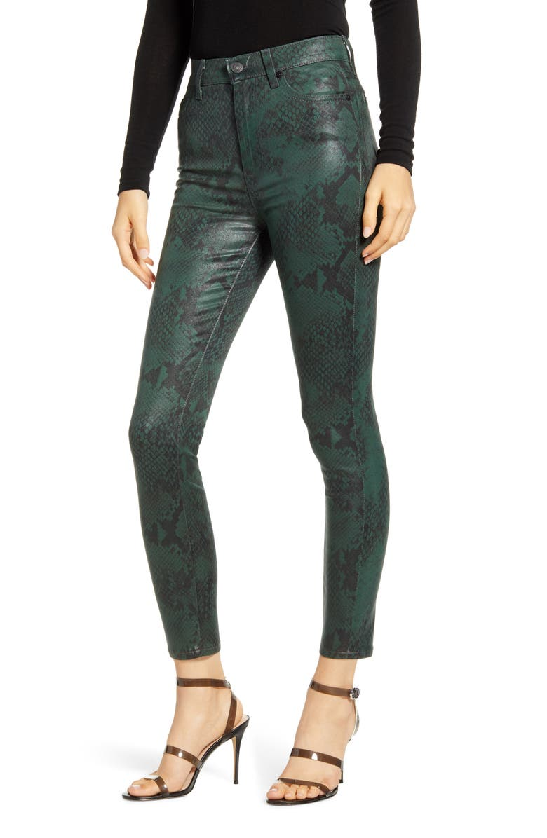 7 FOR ALL MANKIND<SUP>®</SUP> Coated High Waist Ankle Skinny Jeans, Main, color, 301