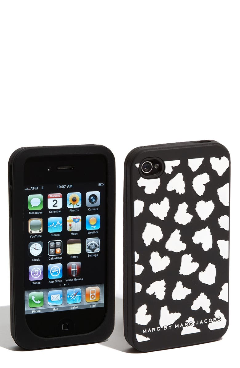MARC JACOBS MARC BY MARC JACOBS 'Wild Hearts' iPhone 4 & 4S Cover, Main, color, 001