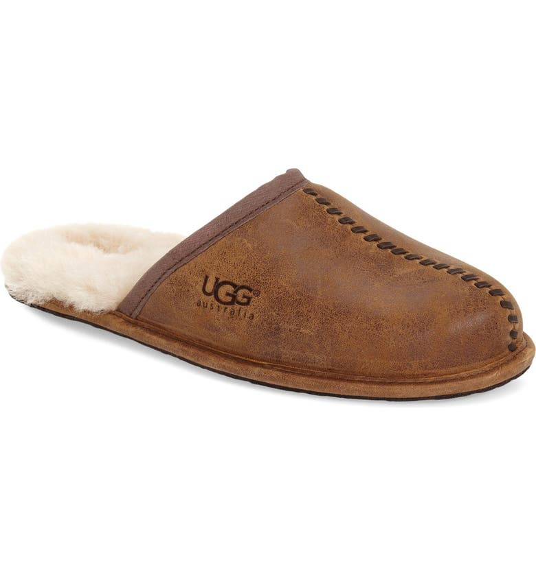 UGG<SUP>®</SUP> Scuff - Deco Genuine Shearling Slipper, Main, color, 219