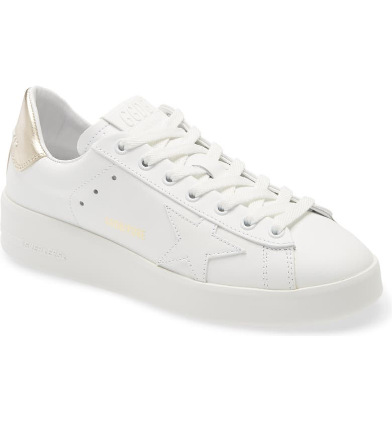 GOLDEN GOOSE PURESTAR Low Top Sneaker, Main, color, WHITE/ GOLD