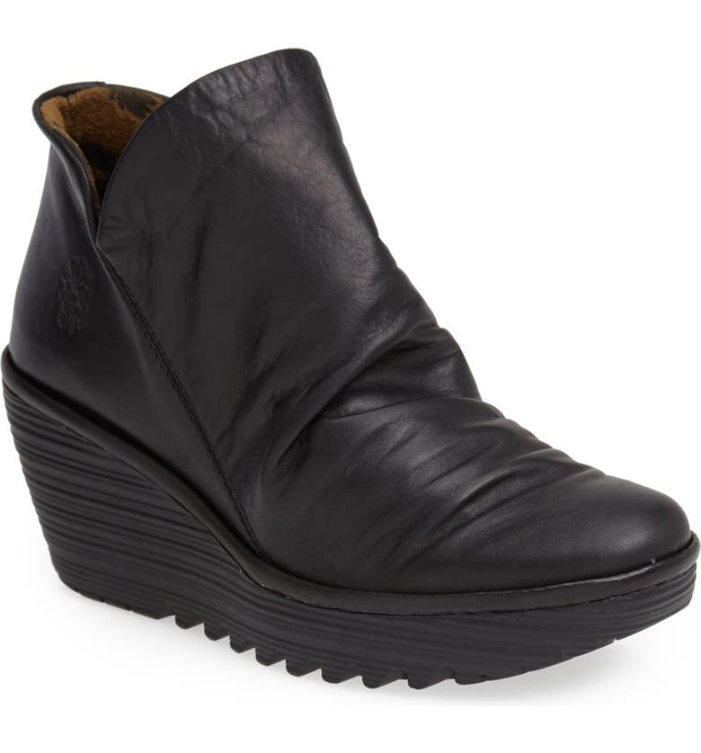 FLY LONDON Yip Wedge Bootie, Main, color, 004