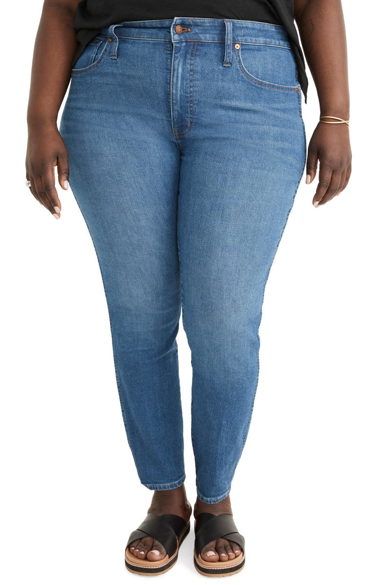 MADEWELL 10-Inch High Rise Skinny Jeans, Main, color, HELMSFORD WASH
