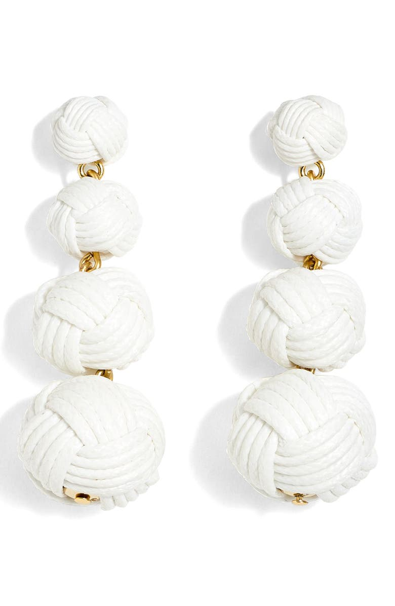 J.CREW Love Knot Drop Earrings, Main, color, 100