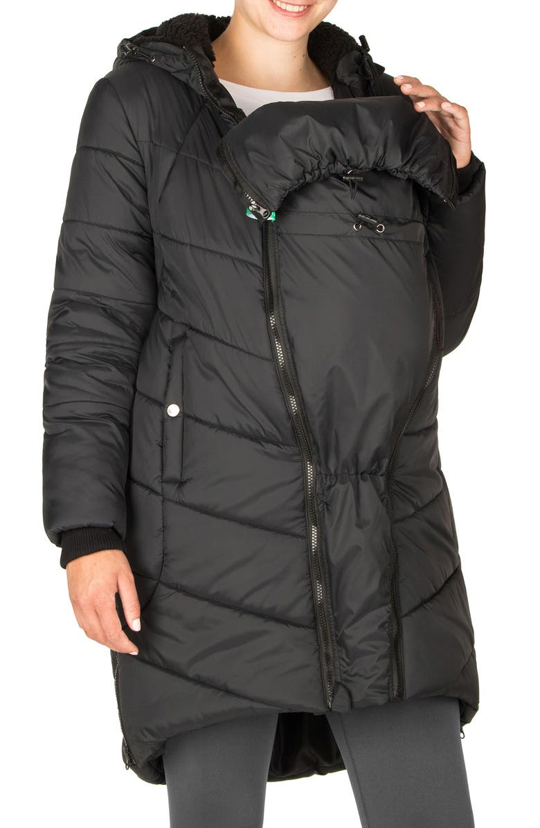 MODERN ETERNITY 3-in-1 Maternity Puffer Jacket, Main, color, Black
