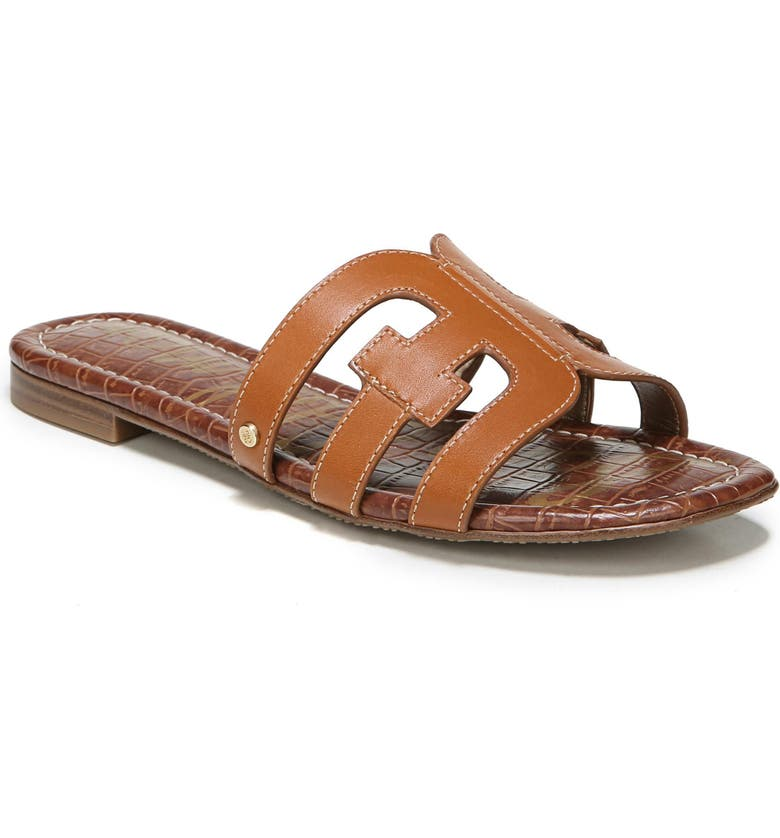 SAM EDELMAN Bay Cutout Slide Sandal, Main, color, SADDLE LEATHER
