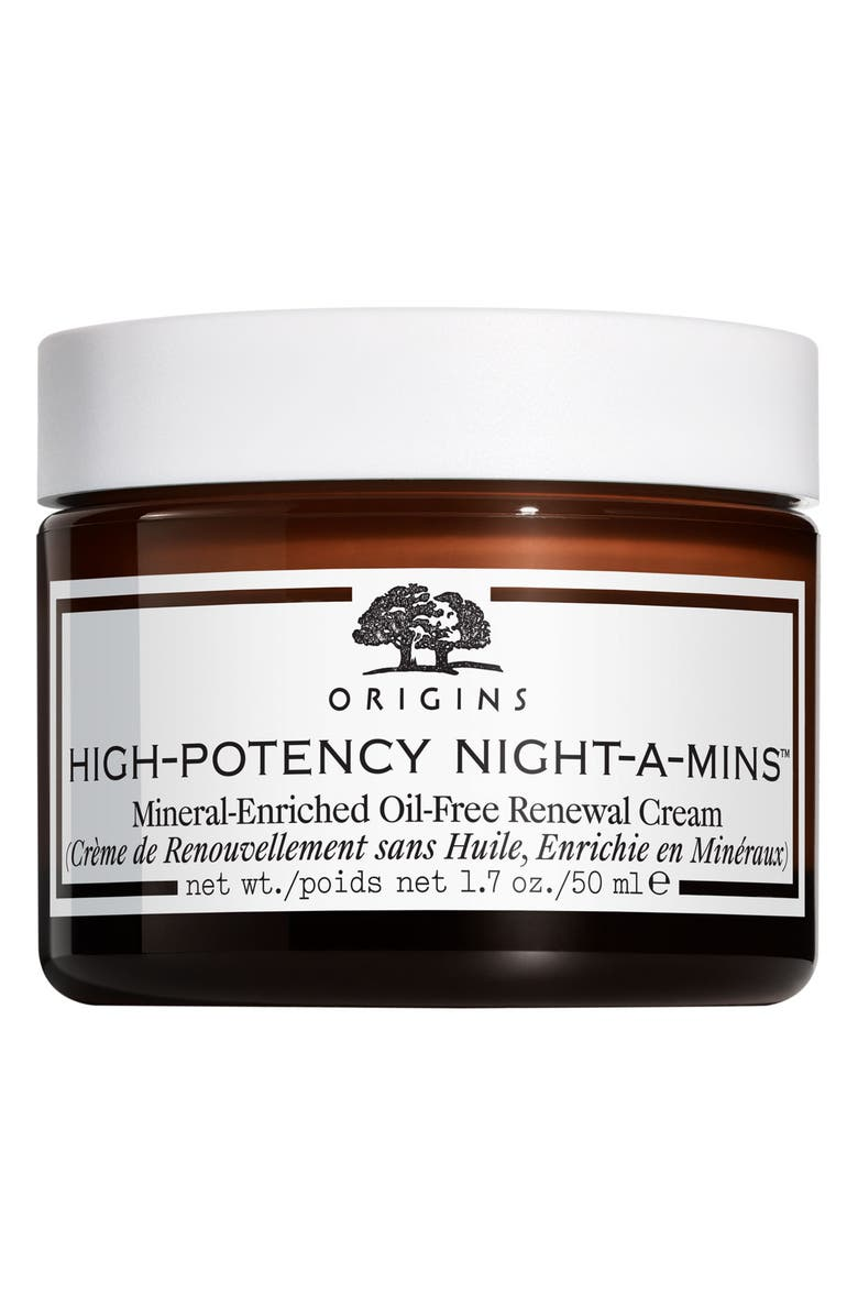 ORIGINS High-Potency Night-A-Mins<sup>™</sup> Mineral-Enriched Oil-Free Renewal Cream, Main, color, No Color