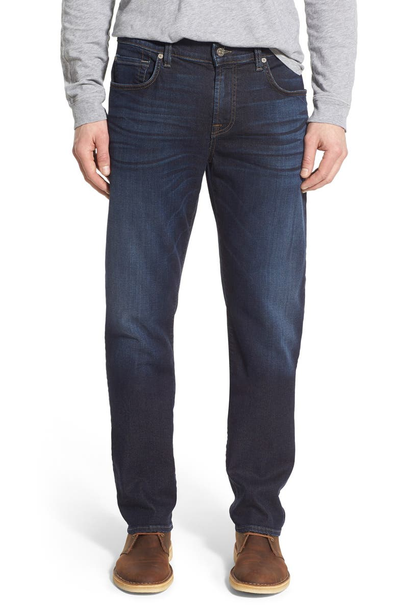7 FOR ALL MANKIND<SUP>®</SUP> 'Straight' Slim Straight Leg Jeans, Main, color, 400
