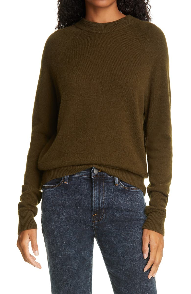 FRAME Fitz Cashmere Sweater, Main, color, FOREST
