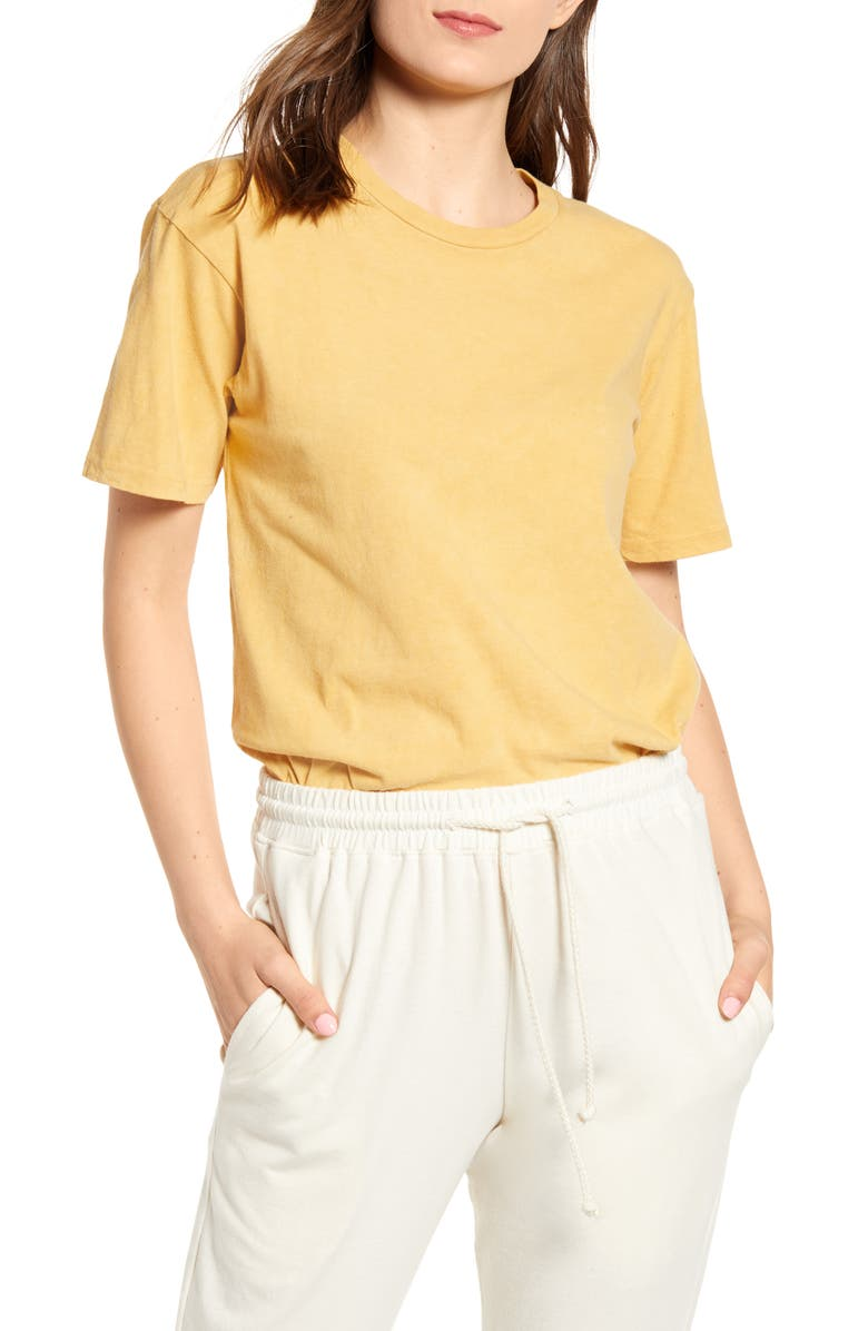 HARVEST & MILL California Clay Dyed Organic Cotton Tee, Main, color, 200