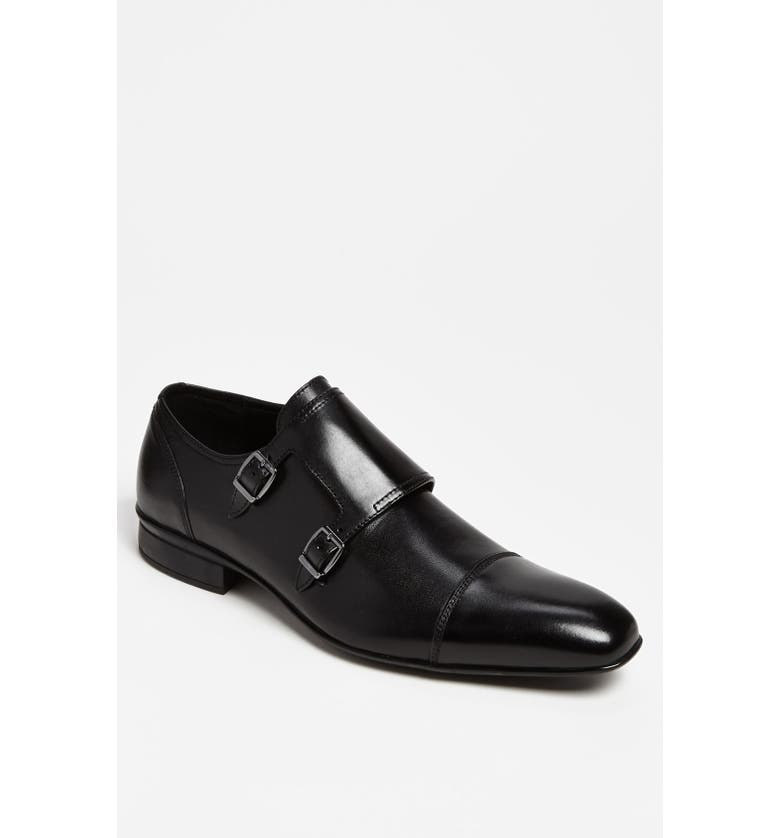 KENNETH COLE NEW YORK 'Highest Rate-d' Double Monk Strap Slip-On, Main, color, Black
