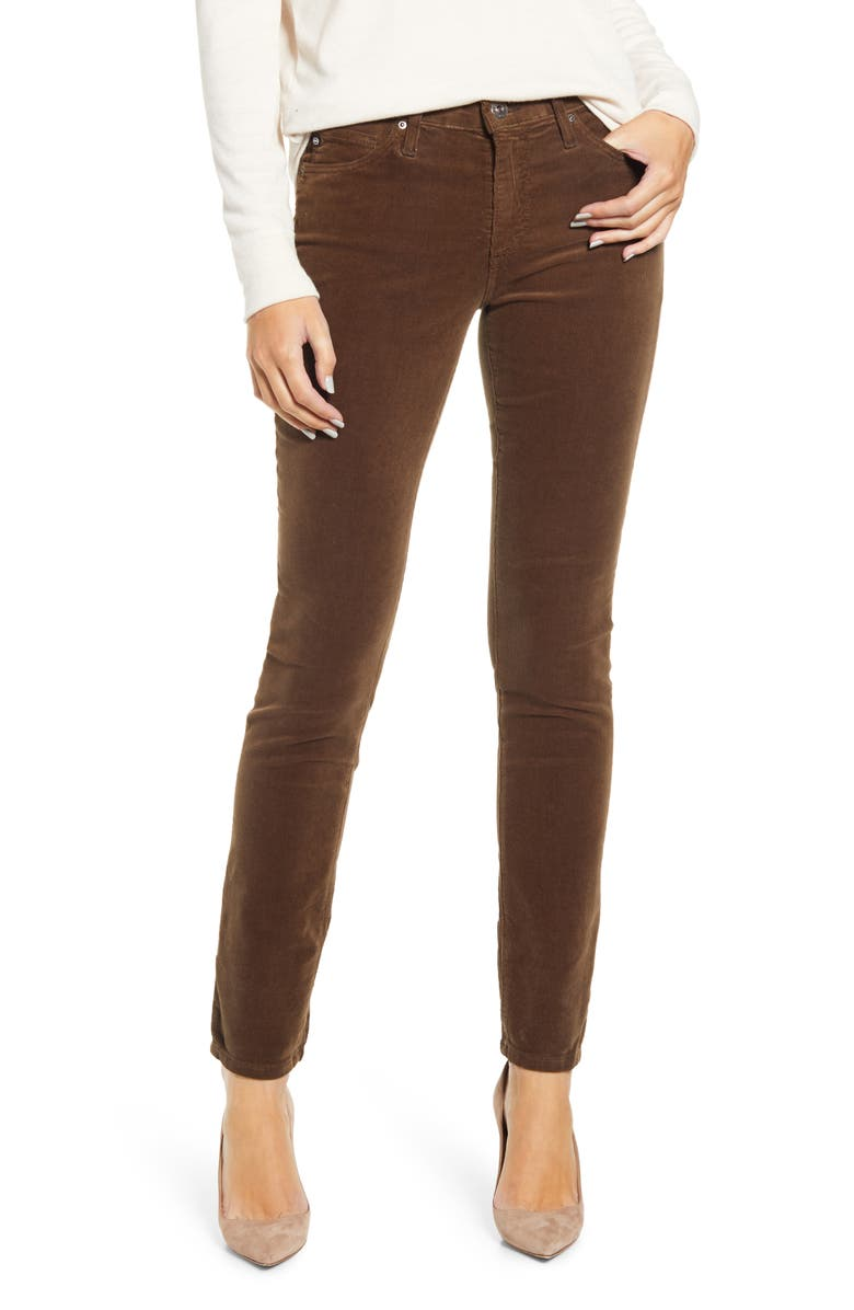 AG 'Prima' Corduroy Skinny Pants, Main, color, 238