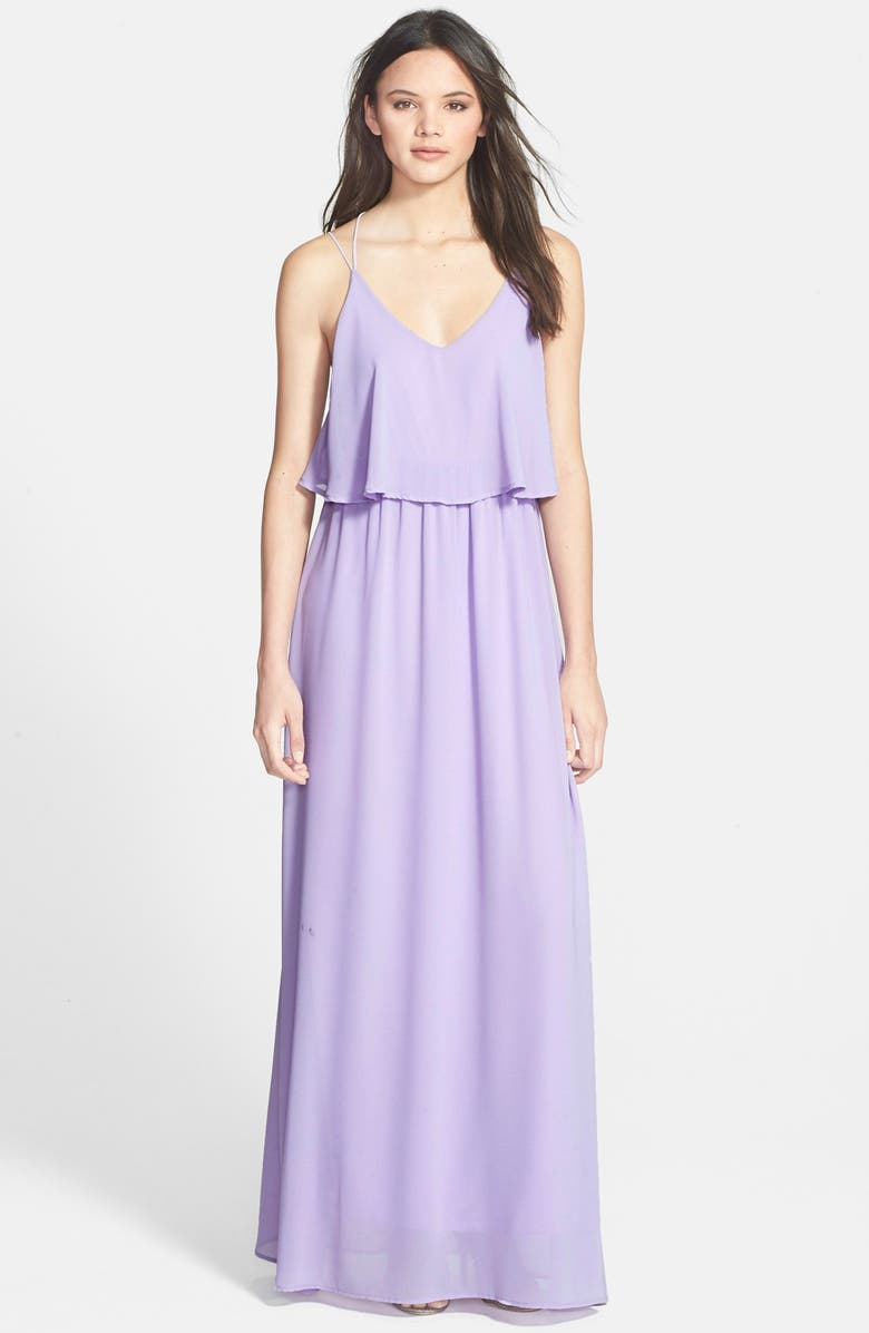 EVERLY Popover Maxi Dress, Main, color, LILAC