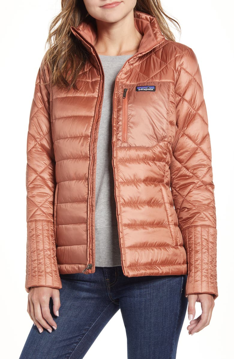 PATAGONIA Radalie Water Repellent Thermogreen-Insulated Jacket, Main, color, CENTURY PINK