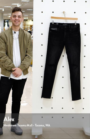 Punk Men's Ripped Super Skinny Jeans, sales video thumbnail
