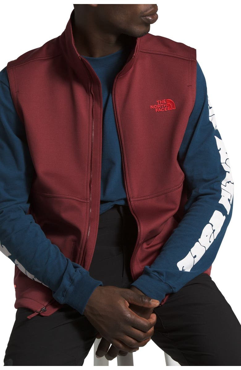 THE NORTH FACE Apex Canyonwall Vest, Main, color, BAROLO RED