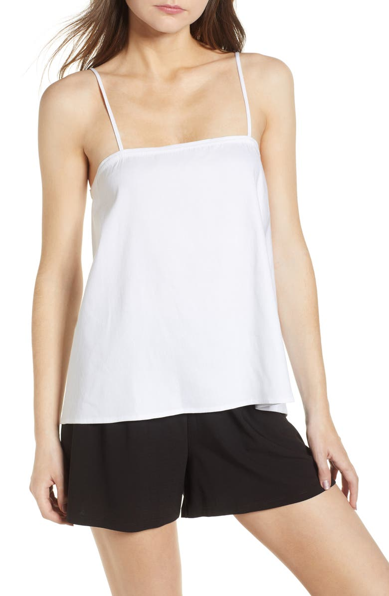 LEITH Button Back Camisole, Main, color, 100