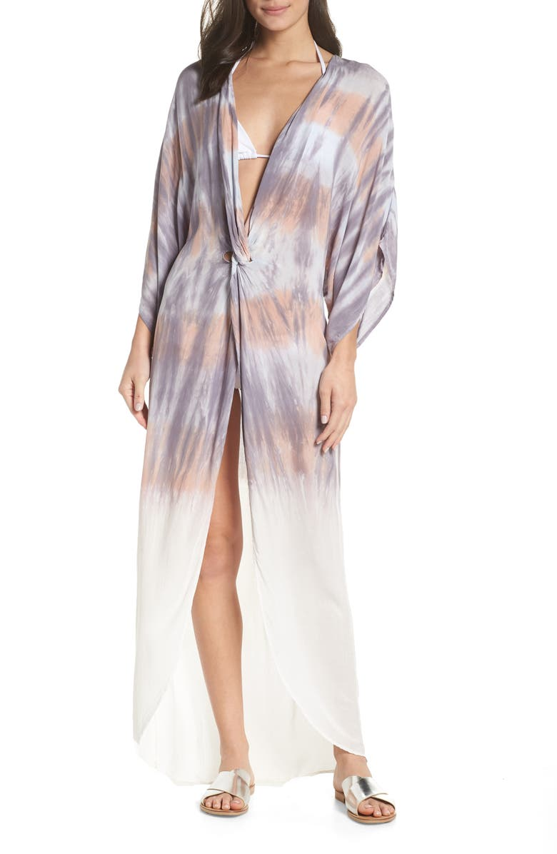 SURF GYPSY Tie Dye Twist Cover-Up Dress, Main, color, 230