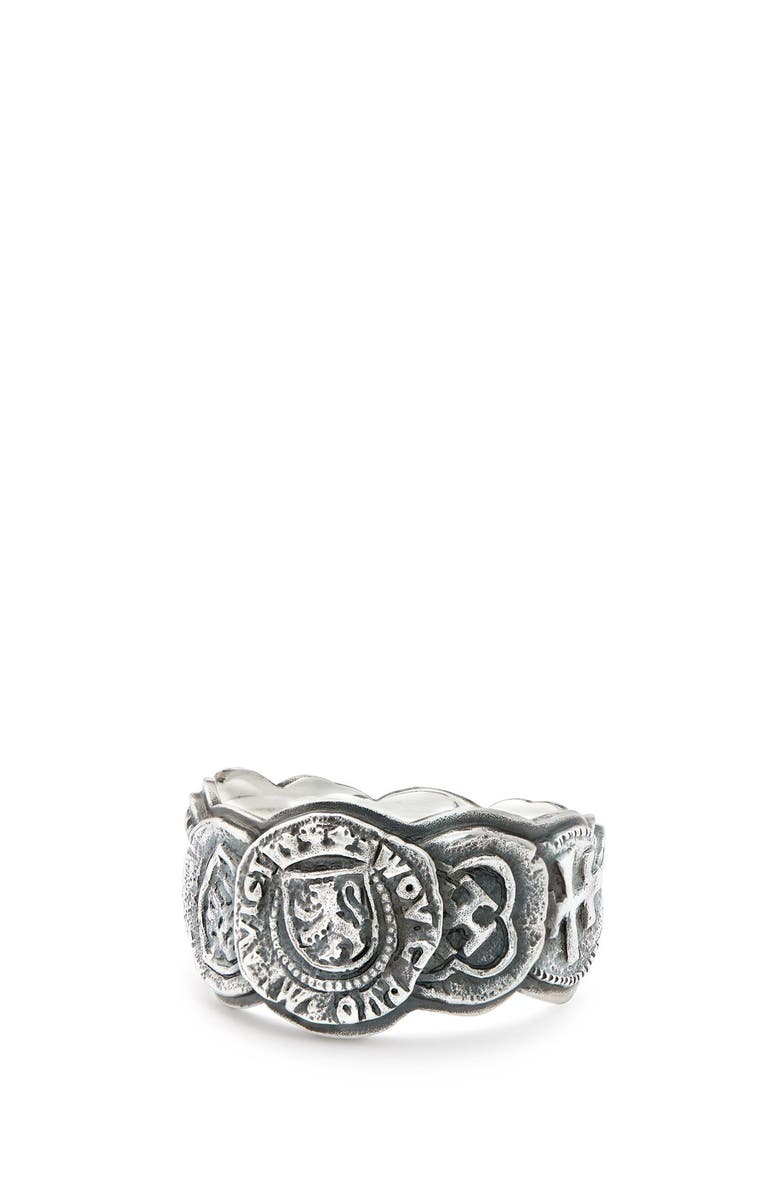 DAVID YURMAN Shipwreck Coin Band Ring, 12mm, Main, color, SILVER
