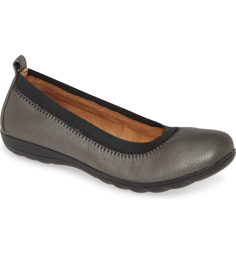 COMFORTIVA Rosella Flat, Main, color, PEWTER LEATHER