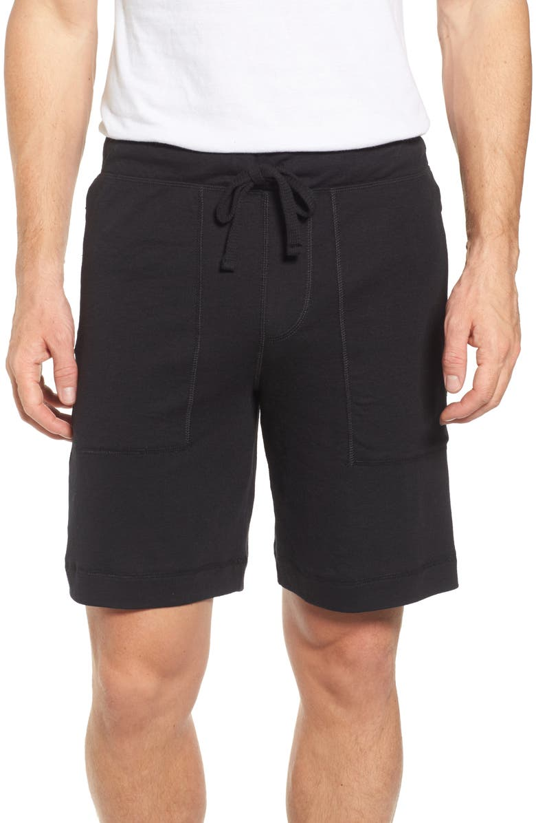 ALO Revival Relaxed Knit Shorts, Main, color, 001