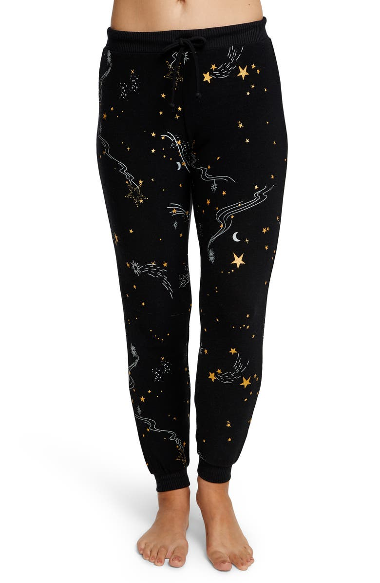 CHASER Shooting Star Cozy Jogger Pants, Main, color, 001