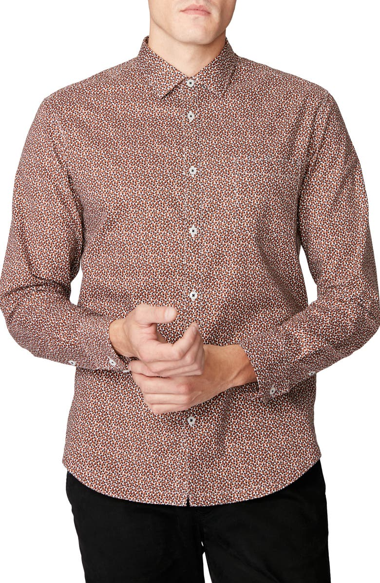 GOOD MAN BRAND On Point Slim Fit Button-Up Shirt, Main, color, 001