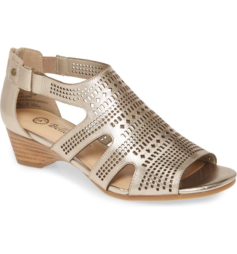 BELLA VITA Quinby Sandal, Main, color, CHAMPAGNE LEATHER