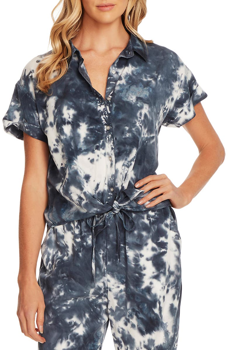 VINCE CAMUTO Tie Front Button Up Shirt, Main, color, 400
