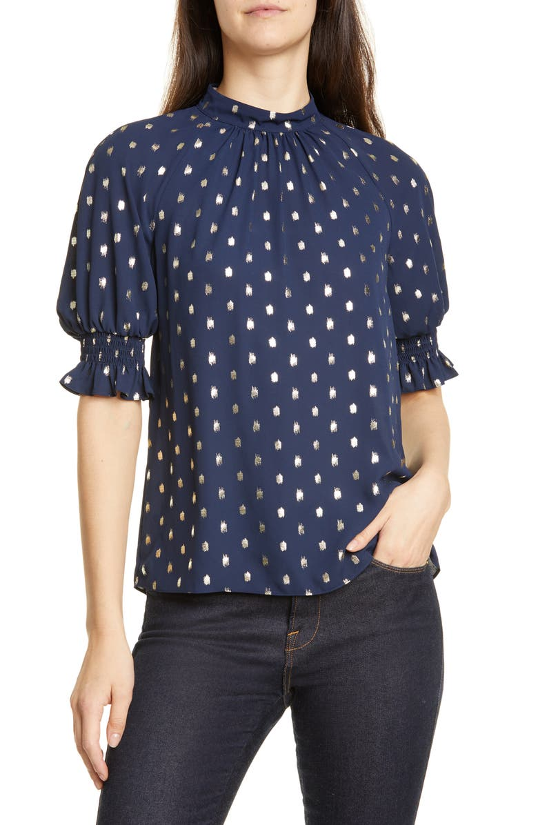 TED BAKER LONDON Puff Sleeve Top, Main, color, 402