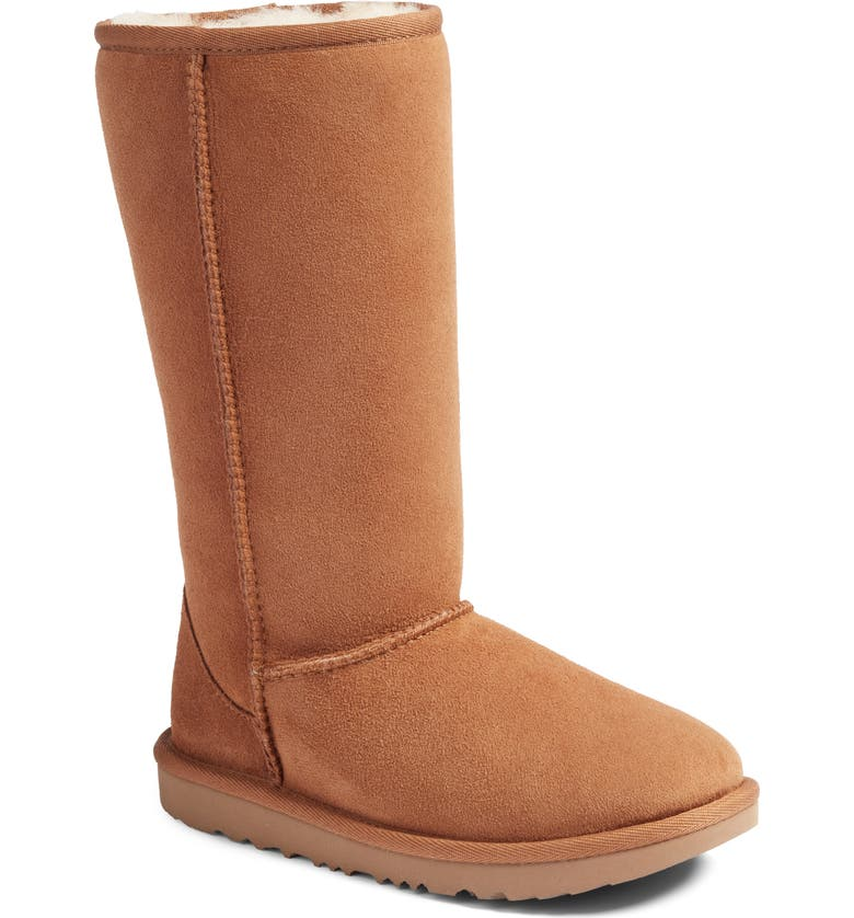 UGG<SUP>®</SUP> Classic II Water-Resistant Tall Boot, Main, color, CHESTNUT BROWN
