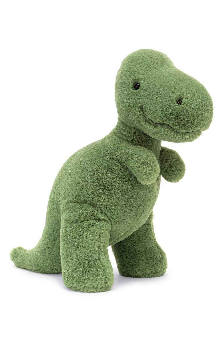 JELLYCAT Fossily T-Rex Stuffed Animal, Main, color, GREEN