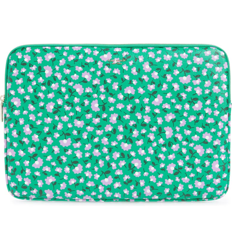KATE SPADE NEW YORK party floral laptop sleeve, Main, color, 300