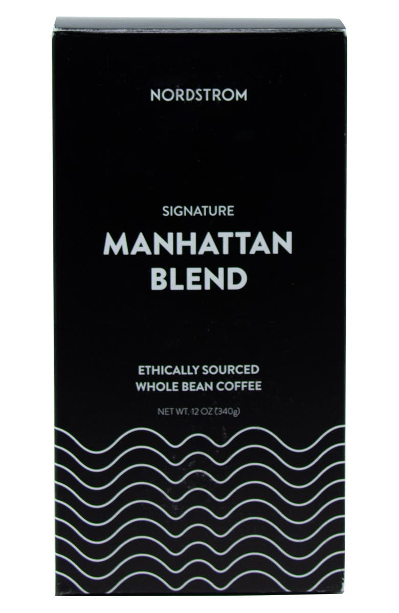 NORDSTROM Manhattan Blend Ethically Sourced 2-Pack Whole Bean Coffee, Main, color, BLACK