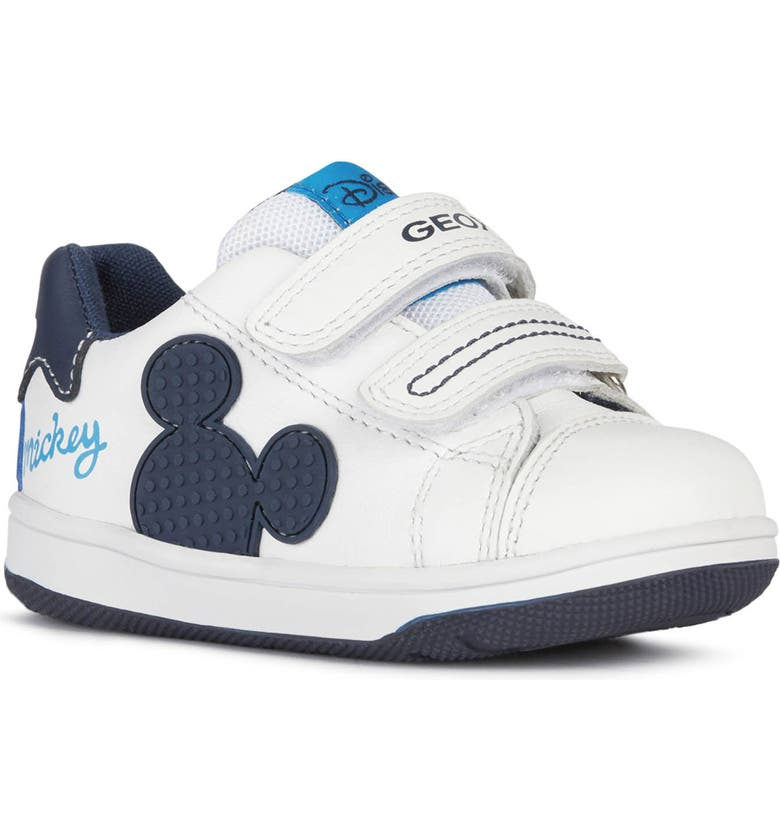 GEOX Flick Mickey Mouse Sneaker, Main, color, WHITE/ NAVY