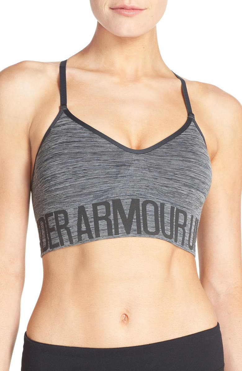 UNDER ARMOUR Seamless Sports Bra, Main, color, ANTHRACITE