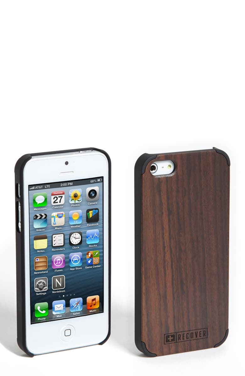 RECOVER Ebony Wood iPhone 5 & 5s Case, Main, color, 200