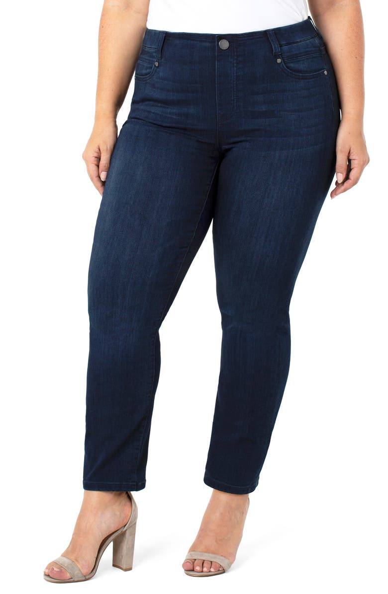 LIVERPOOL Gia Glider Pull-On Slim Jeans, Main, color, WESTPORT WASH