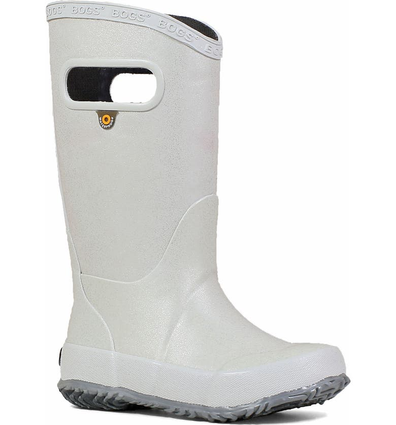 BOGS Glitter Waterproof Rain Boot, Main, color, SILVER