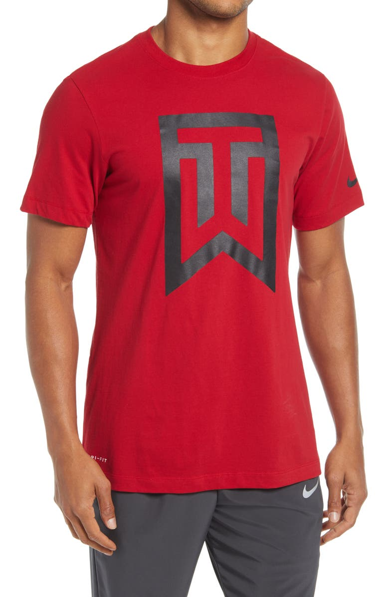 NIKE GOLF Nike Men's Tiger Woods Golf Graphic Tee, Main, color, GYM RED