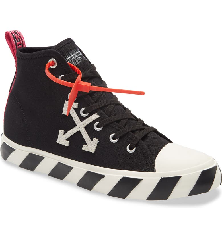 OFF-WHITE Mid Top Sneaker, Main, color, 001