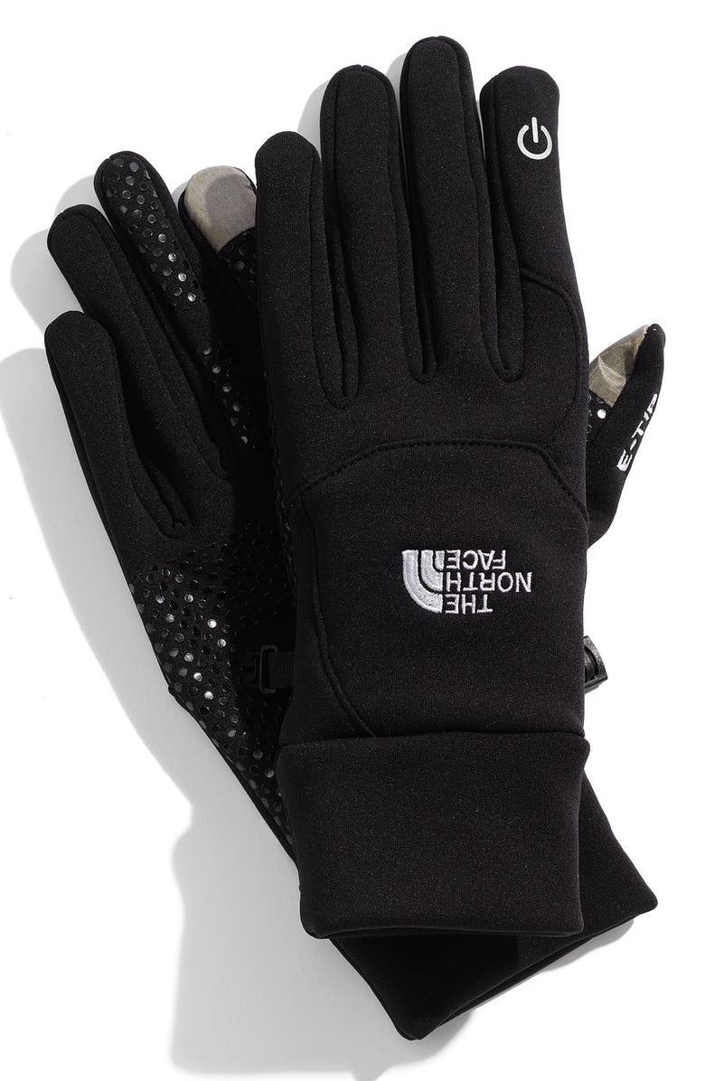 THE NORTH FACE E-Tip Gloves, Main, color, 001