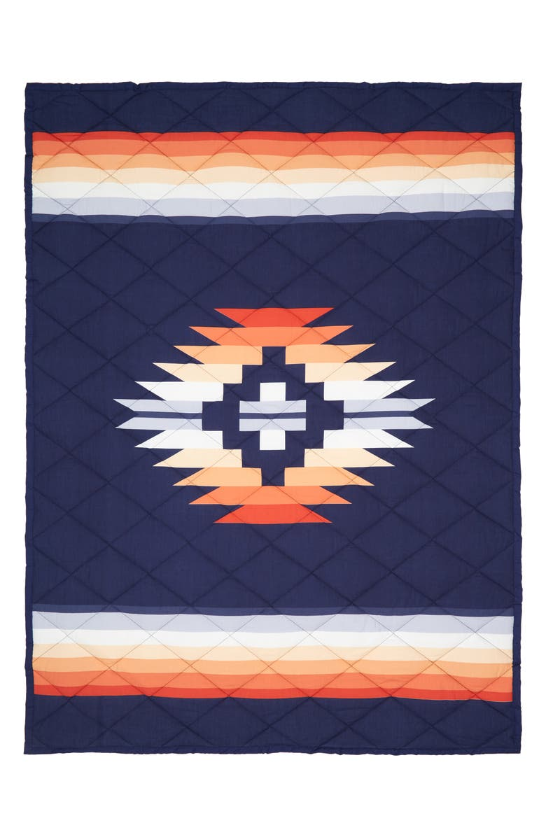 PENDLETON Sunset Canyon Roll-Up Throw Blanket, Main, color, SUNSET CANYON