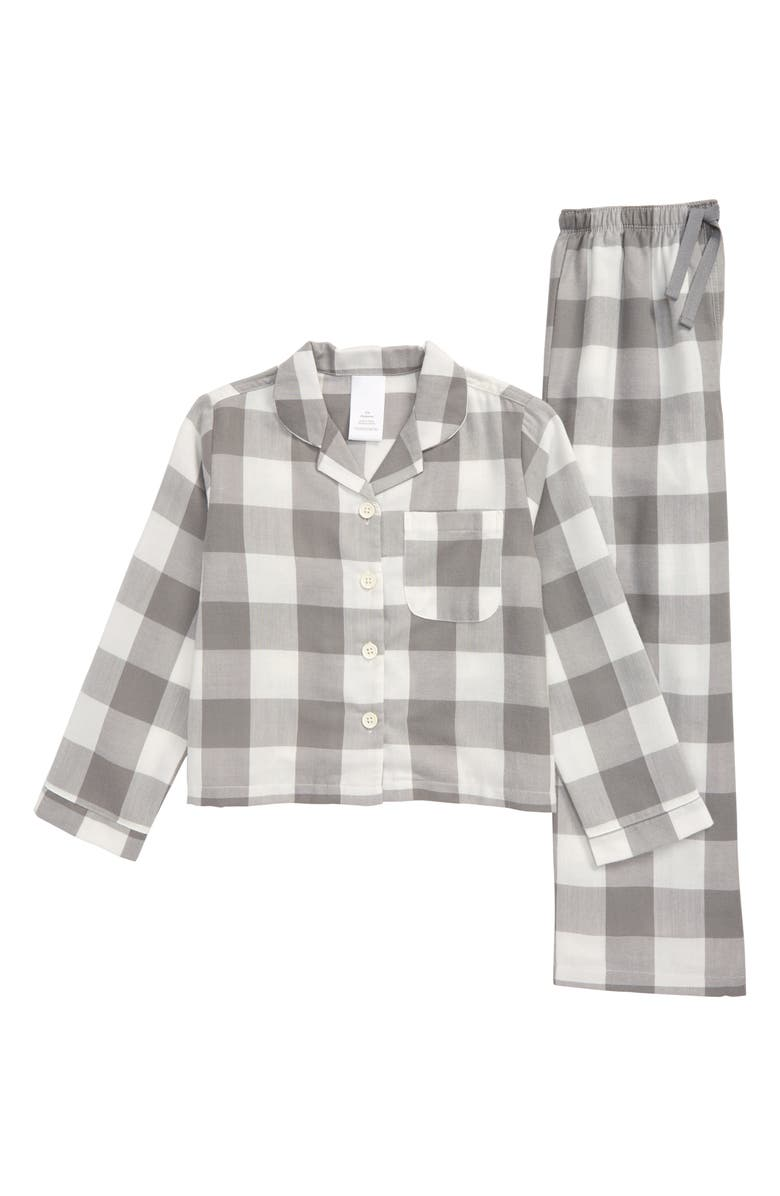 NORDSTROM Two-Piece Flannel Pajamas, Main, color, 030