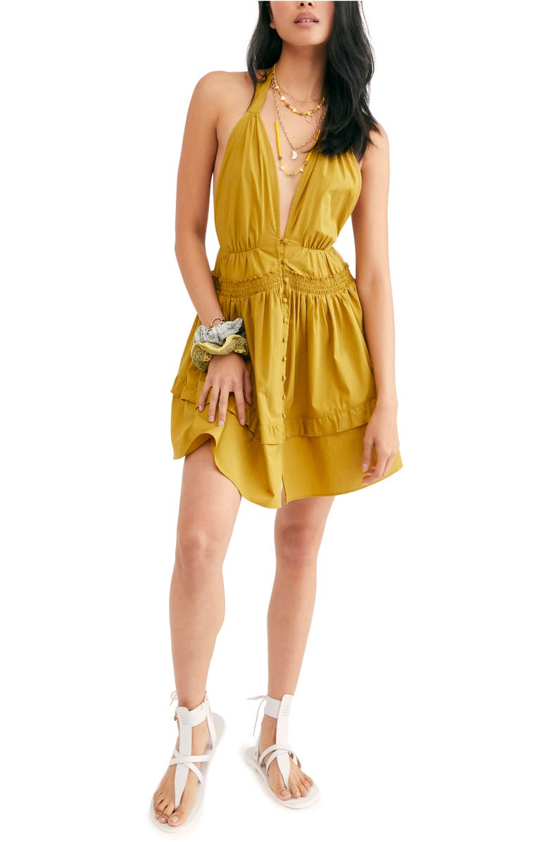 FREE PEOPLE Sail Away Minidress, Main, color, DIRTY OLIVE
